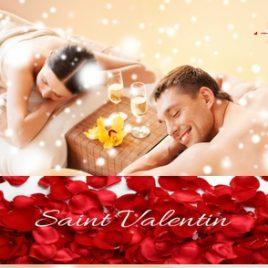 Offre Magique saint valentins : Massage duo de 45 min dans un décor romantique, cocktails et gourmandises