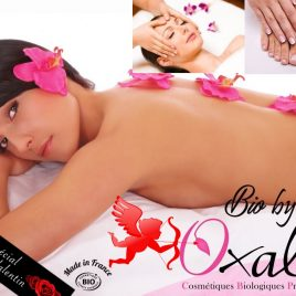 Pour ma Valentine  : un soin visage Fleur de Tiaré  +1 Massage de 45 min à la fleur de Tiaré